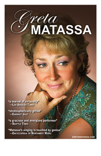 Color poster of Greta Matassa